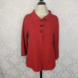 Armani Button Front Wool Red Jacket
